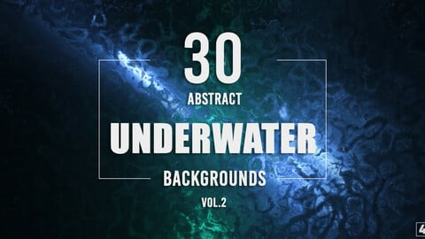 30 Abstract Underwater Backgrounds - Vol. 2