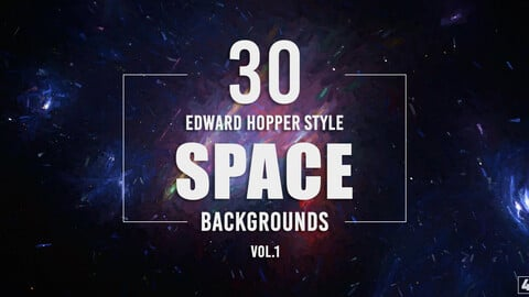 30 Edward Hopper Style Space Backgrounds - Vol.1