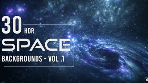 30 HDR Space Backgrounds - Vol. 1