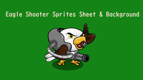 2D Eagle shooter sprite sheet and background