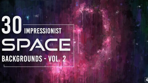 30 Impressionist Space Backgrounds - Vol. 2