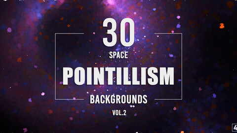 30 Pointillism Space Backgrounds - Vol. 2