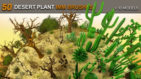 50 Desert Plant IMM Brushes for Zbrush