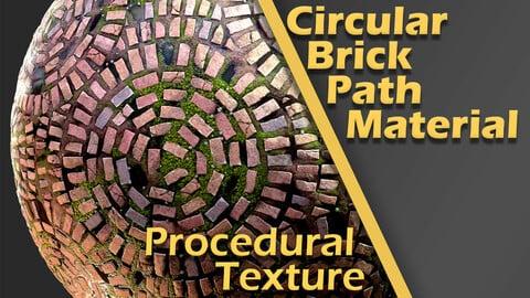 Circular Brick Path Material
