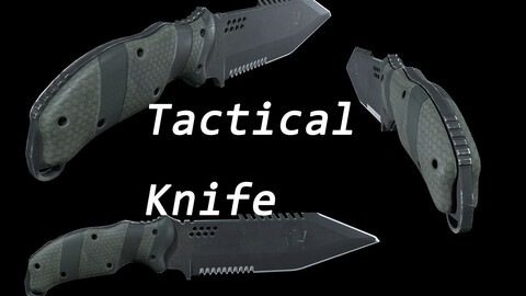Military combat Knife blade weapon Game Assets