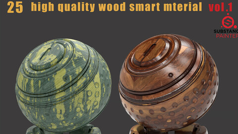 25 high quality wood smart material bundle