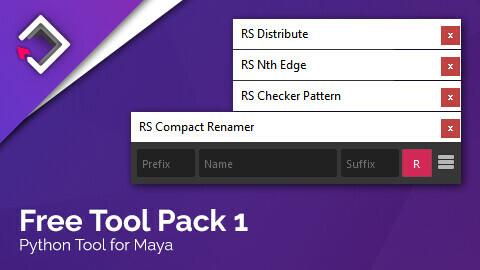 Free Tool Pack 1 for Maya