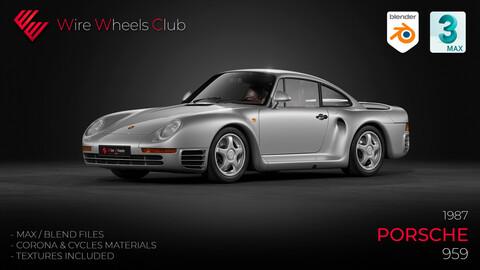 1987 Porsche 959 - 3D Model