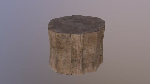 Tree Stump 3D Model free