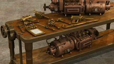 Steampunk Tools and Machinery