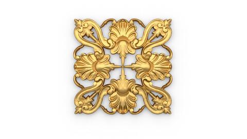 Classic decor ornament 09 3D  model