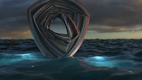 Loop /Sci-fi thing with sea
