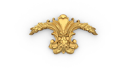 Classic decor ornament 11 3D model