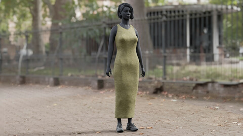 Realistic 3D model ofWomen's Dress 3