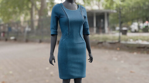 Realistic 3D model of Dress 2