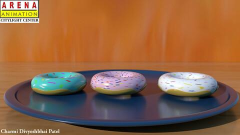 donut 3d modelling