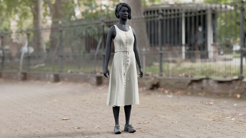 Realistic 3D model of Dress 6