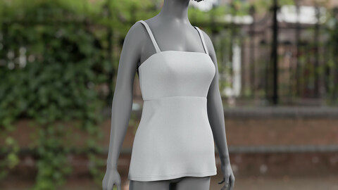 Realistic 3D model of Dress 7