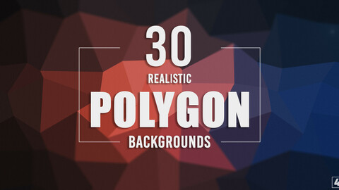 30 Realistic Polygon Backgrounds