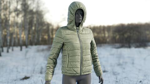 Realistic 3D model of Women's Down Jacket
