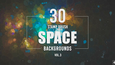 30 Stamp Brush Space Backgrounds - Vol. 3