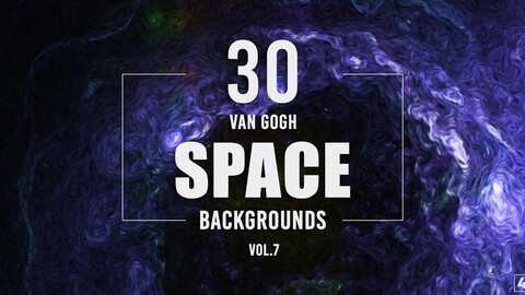 30 Van Gogh Space Backgrounds - Vol. 7