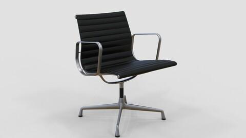 Vitra Aluminium Chair 107 Black
