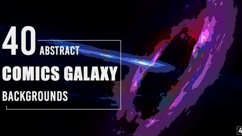 40 Abstract Comics Galaxy Backgrounds