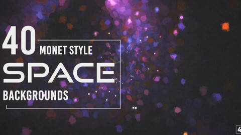 40 Monet Style Space Backgrounds