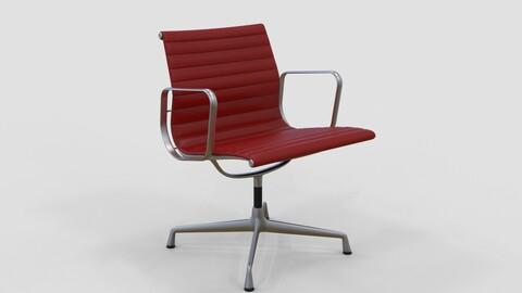 Vitra Aluminium Chair 107 Cherry Red