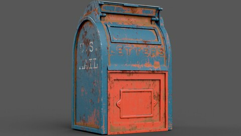 Mailbox Low-poly 3D model