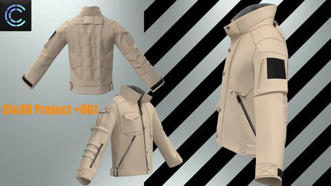 Military jacket Clo3D project +obj