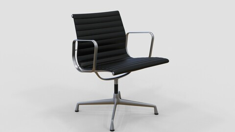 Vitra Aluminium Chair 107 Onyx Black