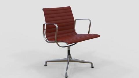 Vitra Aluminium Chair 107 Oxblood Red