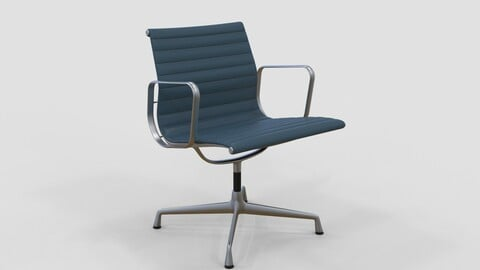 Vitra Aluminium Chair 107 Wedgewood Blue