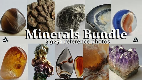 Minerals Bundle. 3925+ Reference Photo Pictures