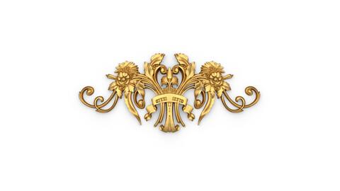 Classic decor ornament 14 3D  model