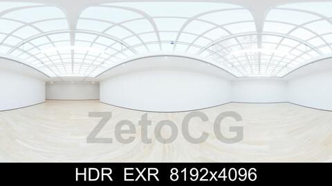 HDRI - Art Museum Gallery Interior 4 - 8192x4096