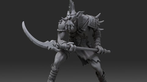 Vol'Jin miniature ready stl/obj file