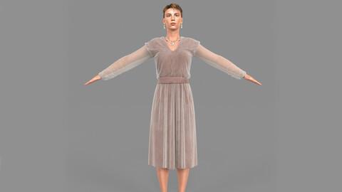 Girl in a dress