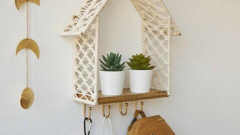 Macrame Wall Shelf Wall Hanging Wall Decoration-House Hook