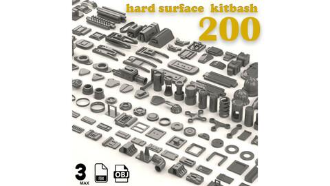 200 sci-fi & hard surface kitbash