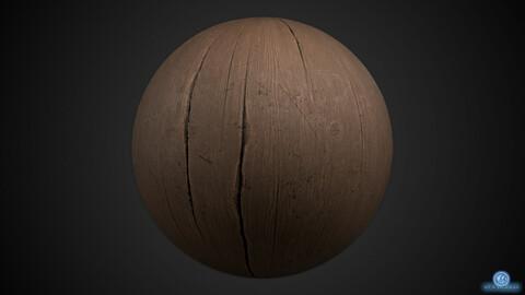 Worn glazed wood PBR material - procedural (.sbs / 4k textures + .SBSAR)