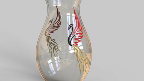 decorative phoenix vase