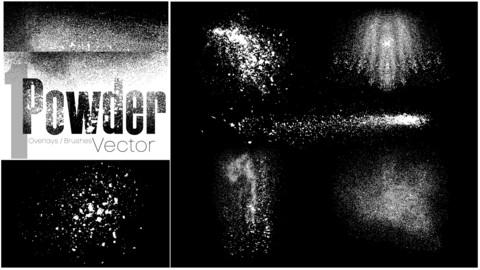 Powder Overlay / Brush Vectors Set 1
