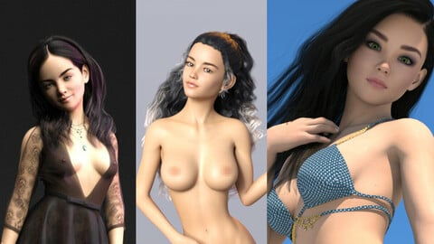 Teen Female Characters Bundle