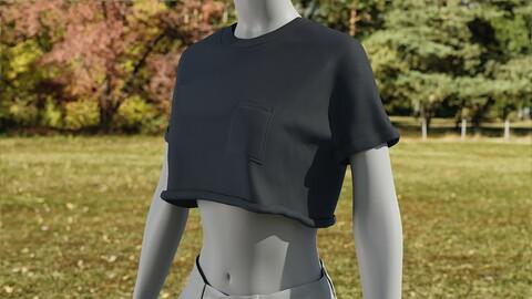 Realistic 3D model of Womens TShirt 5