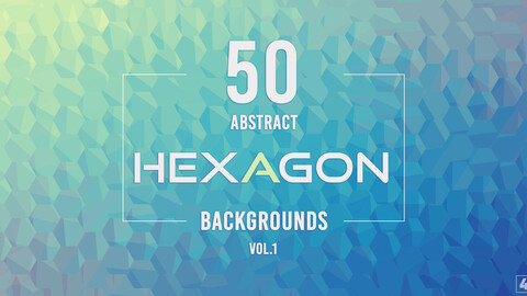 50 Abstract Hexagon Backgrounds - Vol. 1