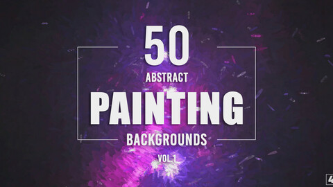 50 Abstract Painting Backgrounds - Vol. 1