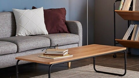 Kerencia Coffee Table Multipurpose Living Room Seating Table 2colors